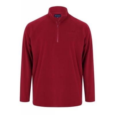 Red Zip Micro Fleece