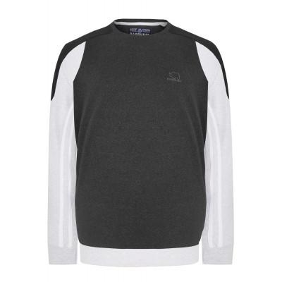 Fekete blokk pulóver